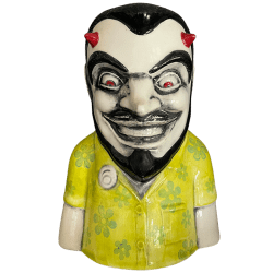 Front - Evil Frankie (6th Anniversary Mug) - Frankie's Tiki Room - Lucifer Lime Edition