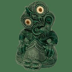 Front - Maori Hei Tiki Mug - Crazy Al - Open (Green Stone) Edition