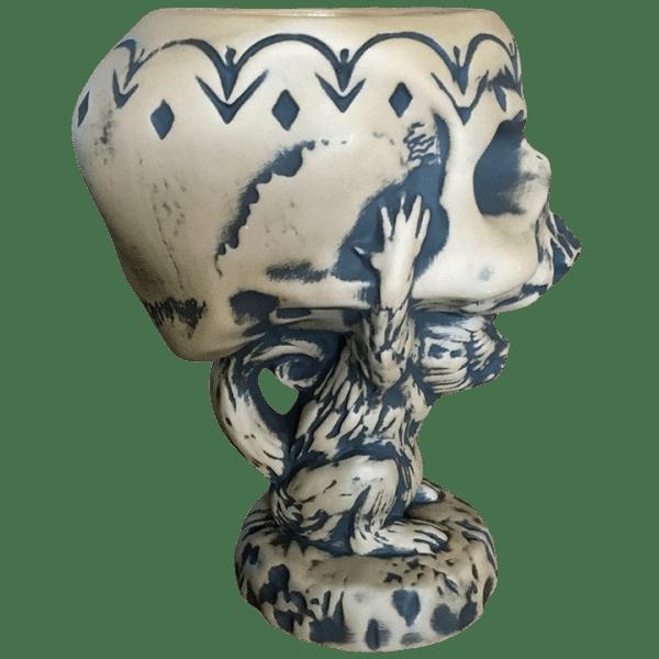 Side - 2021 Tiki Bash Mug (Monkey Supporting Skull) - Cutwater Spirits - 1st Edition