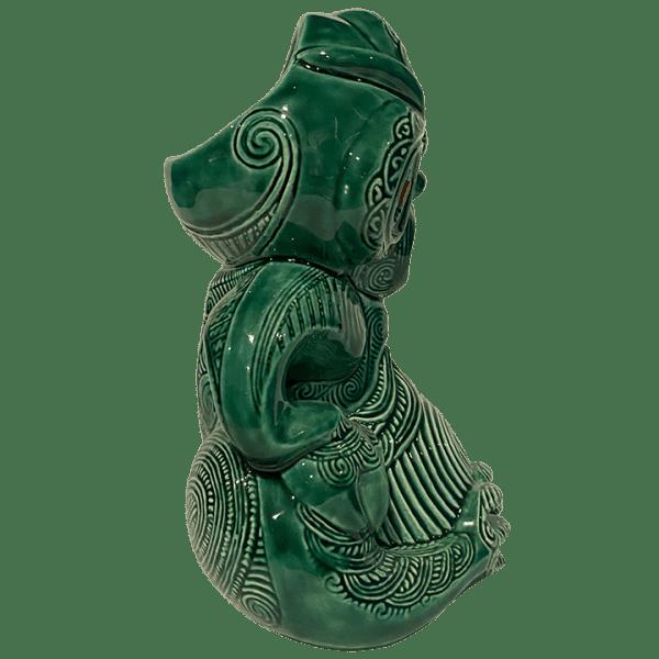 Side - Maori Hei Tiki Mug - Crazy Al - Open (Green Stone) Edition