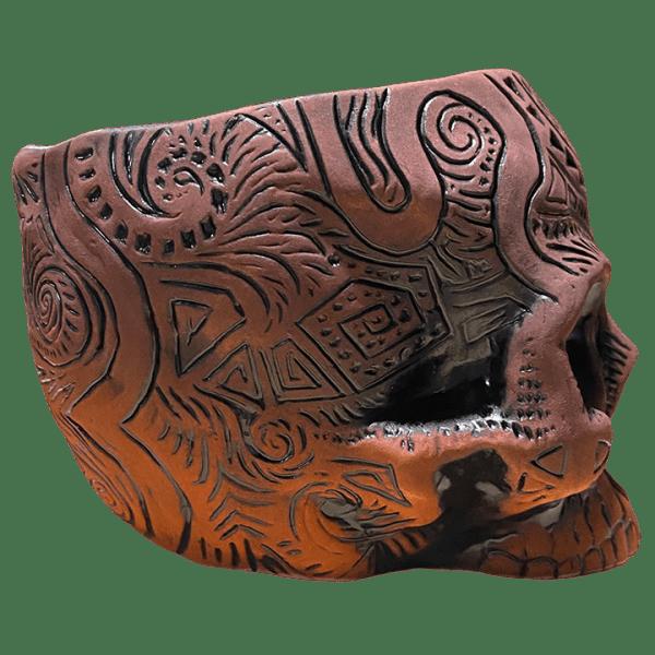 Side - Shrunken Skull Tiki Mug - Shima Ceramics - Artist Proof #31
