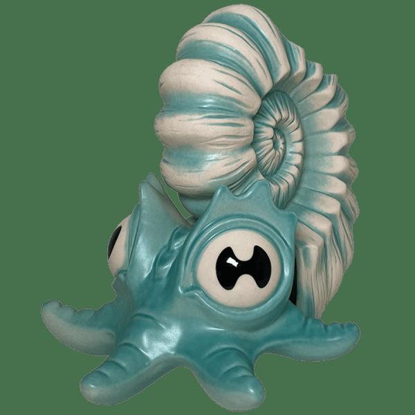 Angle - Lil' Ammy Mug - VanTiki - Teal Tendrilled Ammonite Edition