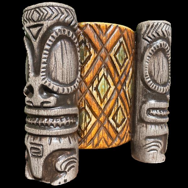 Back - Kaoho Marquesan Tri-Foota MugBowl - Beachbumz - Custom Edition