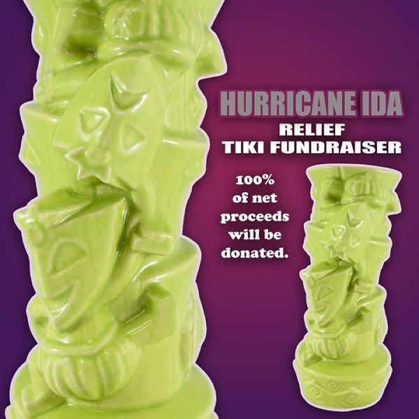 Comedy and Tragedy Green Tiki Mug