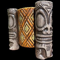 Front - Kaoho Marquesan Tri-Foota MugBowl - Beachbumz - Custom Edition