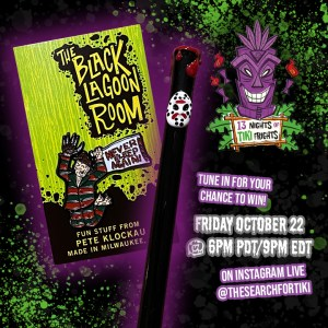 13 Nights of Tiki Frights Straw and Pin Giveaway Day 4