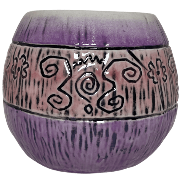 Back - Mad Tiki Cup - Lost Temple Traders - Purple and Yellow Edition