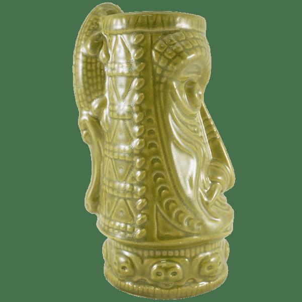 Side - Crocodile King Tiki Mug - Tiki Farm - Pippin Green Edition