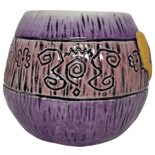 Side - Mad Tiki Cup - Lost Temple Traders - Purple and Yellow Edition
