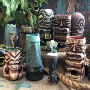 Tiki Mugs By Woody Miller